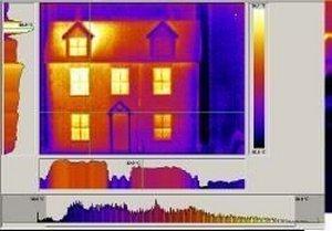 Thermografisches Bild eines Wohnhauses