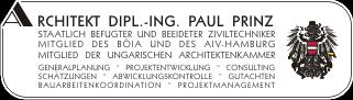 Firmenlogo von Architekt Dipl.-Ing. Paul Prinz, Wien
